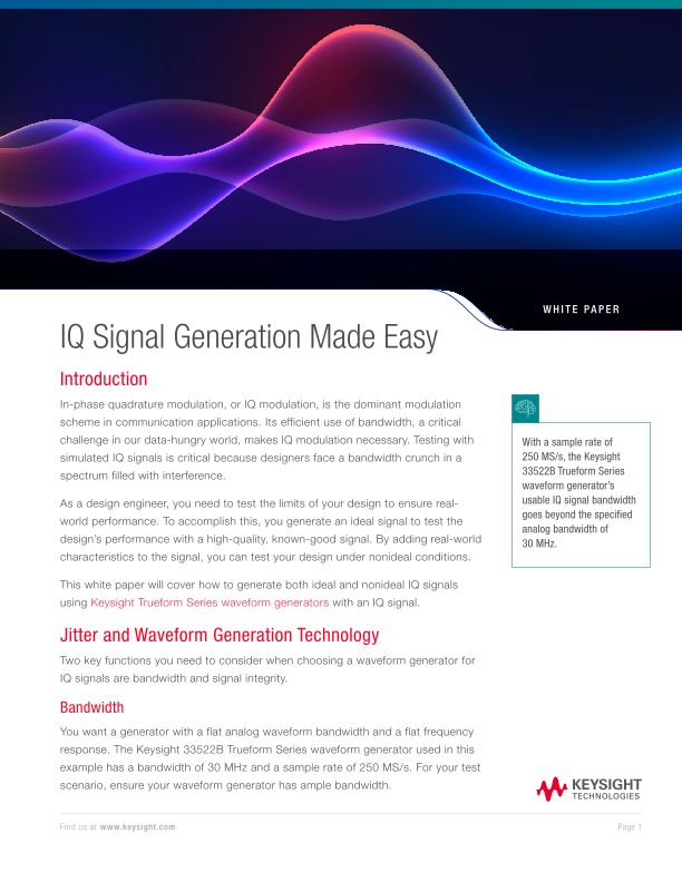 IQ Signal Generation Made Easy