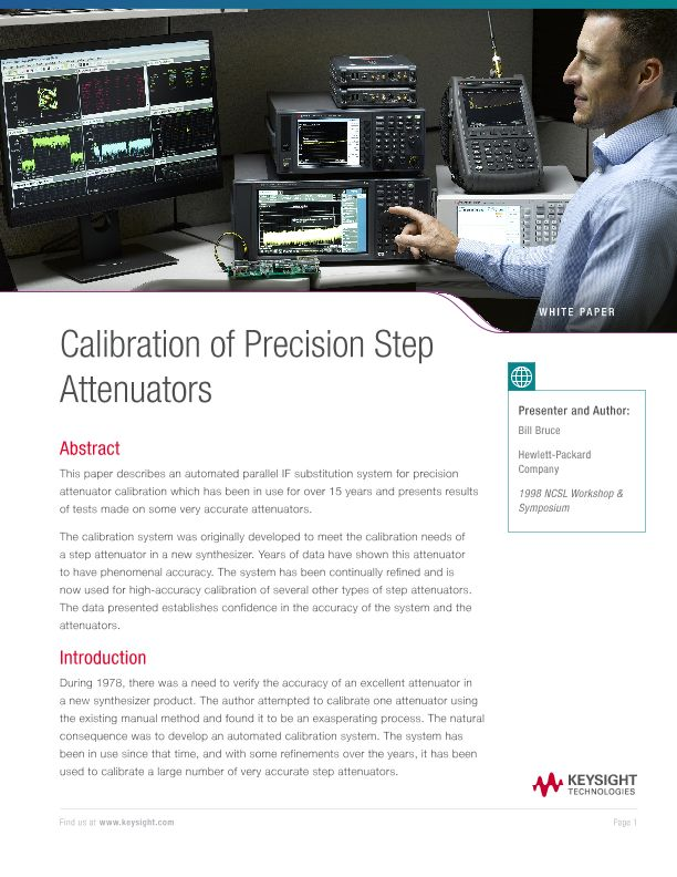Attenuator Calibration of Precision Step Attenuators