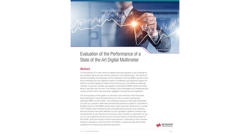 Digital Multimeter Performance Evaluation (3458A)
