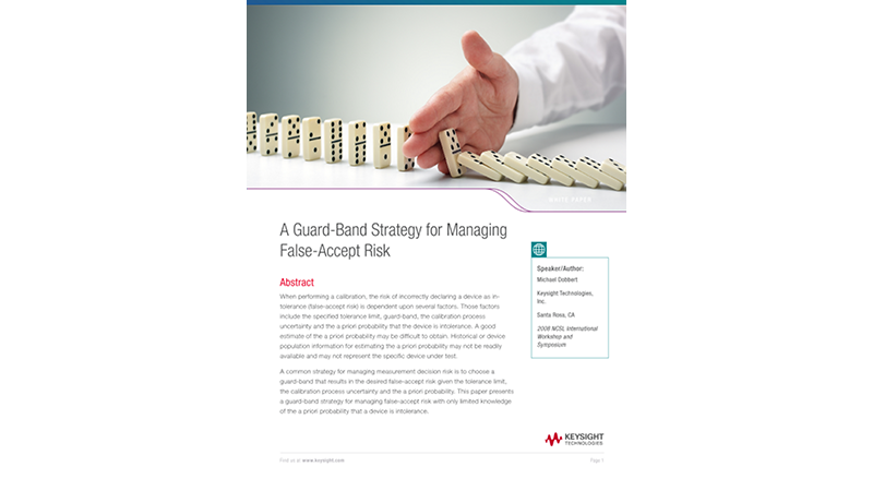 A Guard-Band Strategy for Managing False-Accept Risk