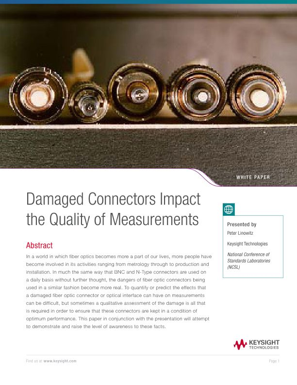 Damaged Connectors Impact the Quality of Measurements