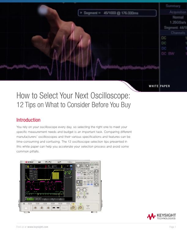 How to Select Your Next Oscilloscope: 12 Tips on What to Consider Before You Buy