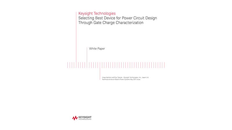Power Circuit Design Through Gate Charge Characterization