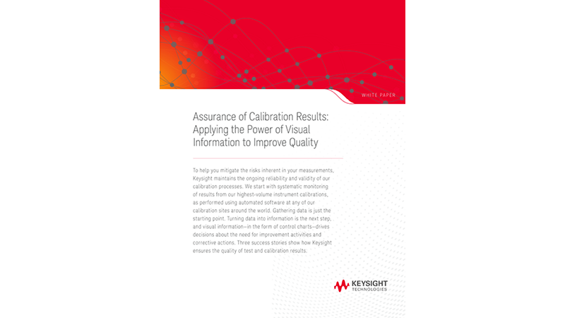 Assurance of Calibration Results: Applying the Power of Visual Information to Improve Quality