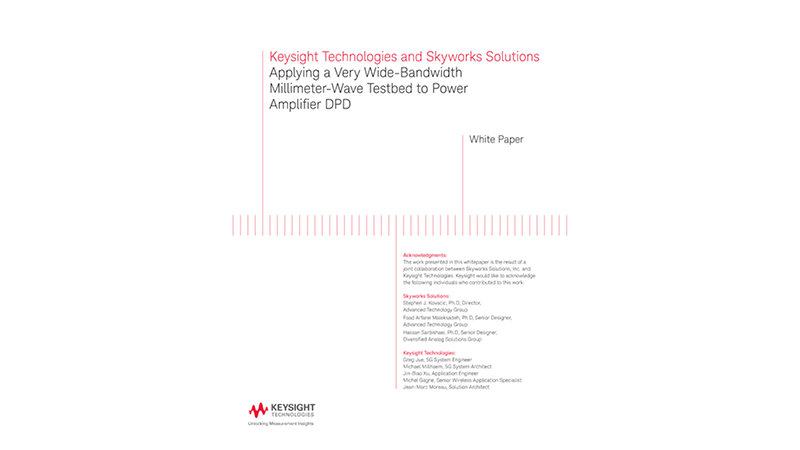 Applying a Wide-Bandwidth mmWave Testbed to Power Amplifier DPD