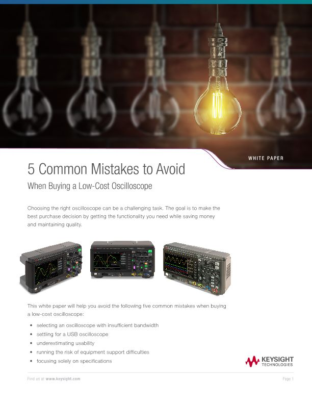 5 Common Mistakes to Avoid When Buying a Low-Cost Oscilloscope