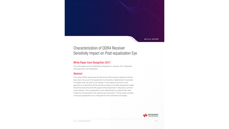 Characterization of DDR4 Receiver Sensitivity Impact on Post-equalization Eye