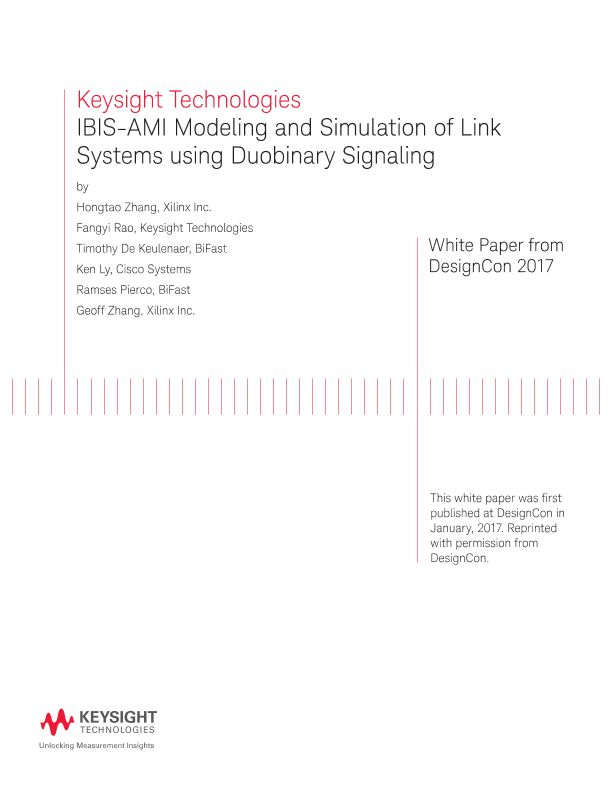 IBIS-AMI Model and IBIS Simulation Using Duobinary Signaling