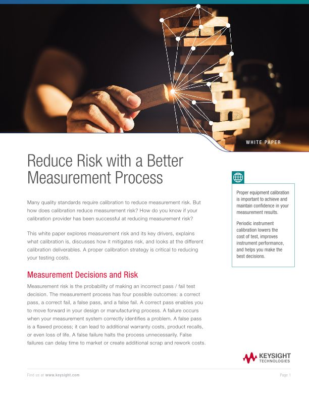 Reduce Risk with a Better Measurement Process