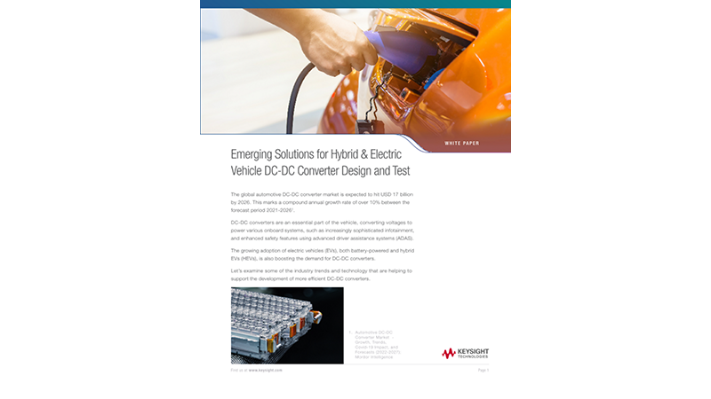 Emerging Solutions to Hybrid & Electric Vehicle DC: DC Converter Design and Test