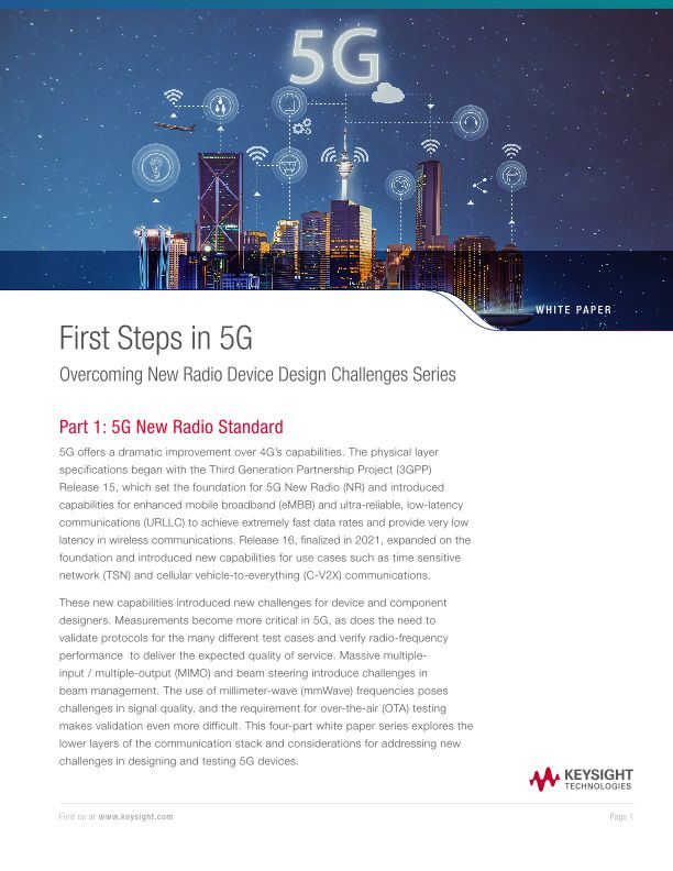 Overcoming 5G NR Device Design Challenges Series – Part 1