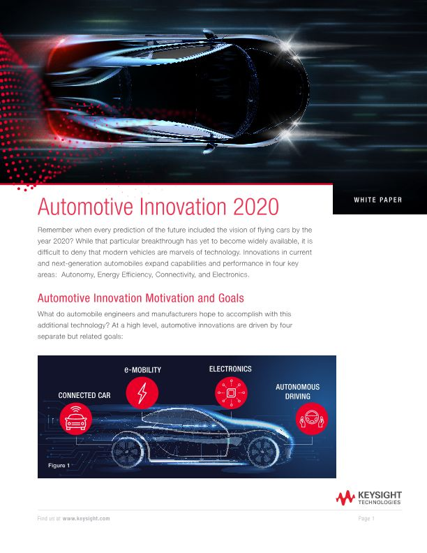 Automotive Innovation 2020