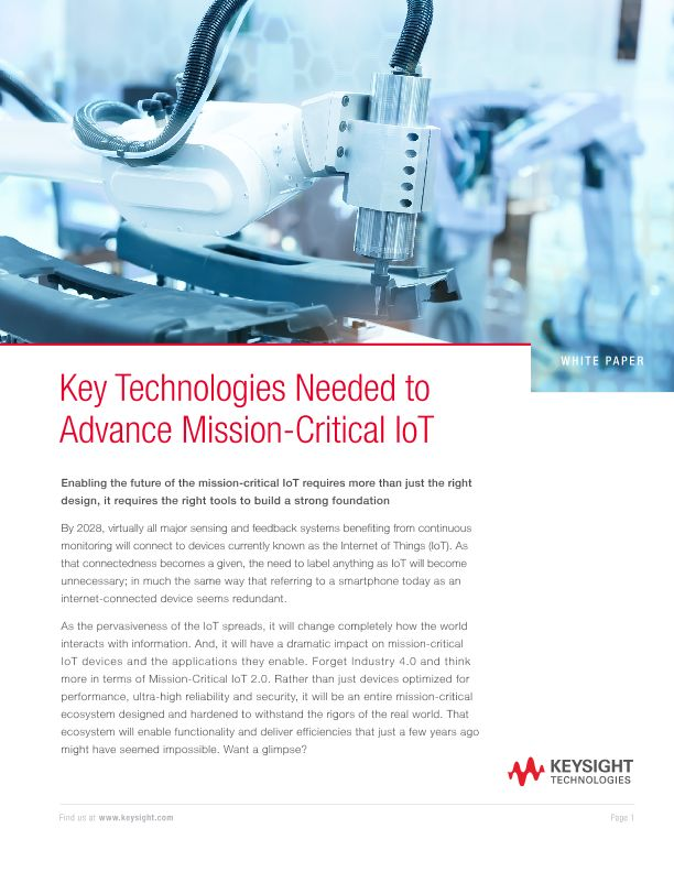 Mission-Critical IoT Applications and Technologies for Success