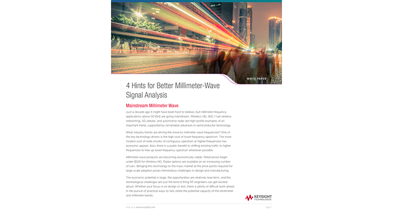4 Hints for Better Millimeter-wave Signal Analysis
