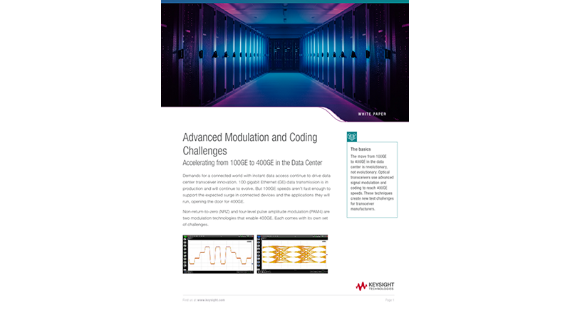 Accelerating from 100GE to 400GE in the Data Center Advanced Modulation and Coding Challenges