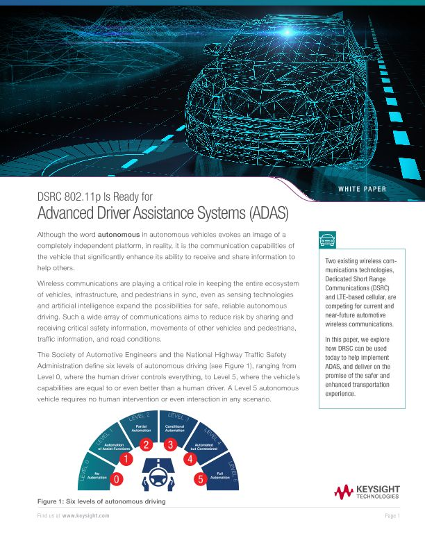 DSRC 802.11p is Ready for Advanced Driver Assistance Systems (ADAS)