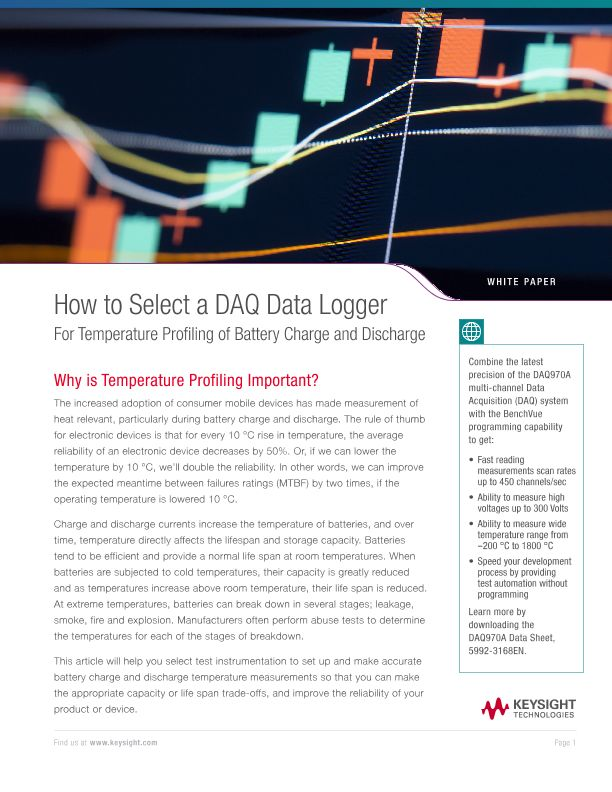 How to Select a DAQ Data Logger