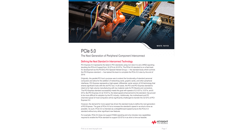 PCIe 5.0 - The Next Generation of Peripheral Component Interconnect