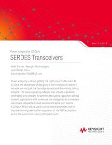 DesignCon 2018: Power Integrity for 32 Gb/s SERDES Transceivers