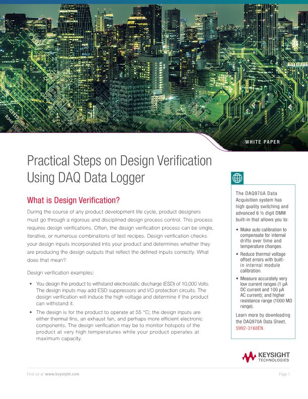 Design Verification Using DAQ Data Logger