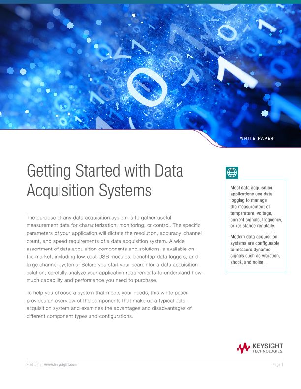 Getting Started with Data Acquisition Systems