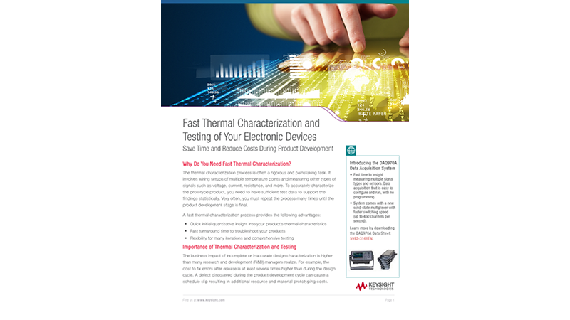 Fast Thermal Characterization and Testing Your Electronic Devices