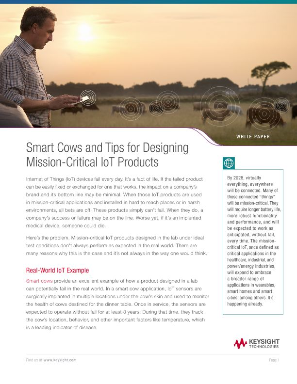 IoT for Cows – Tips for Mission Critical IoT Designs
