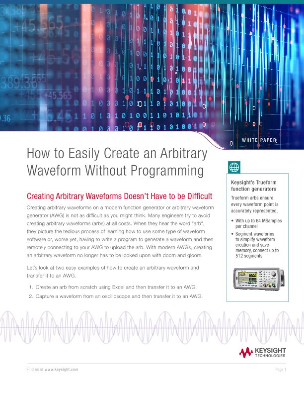 Create an Arbitrary Waveform Without Programming