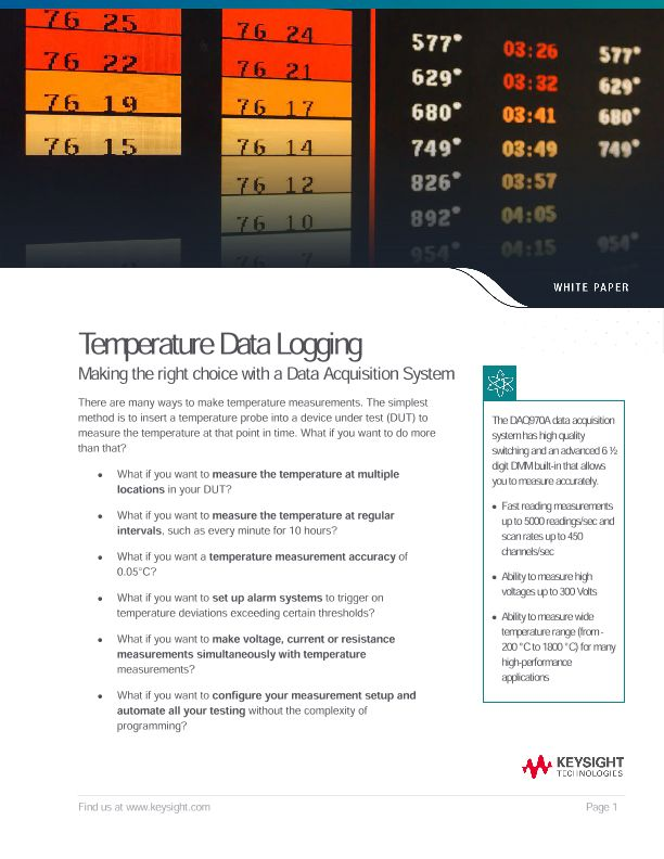 Temperature Data Acquisition, Data Logging Using DAQ System