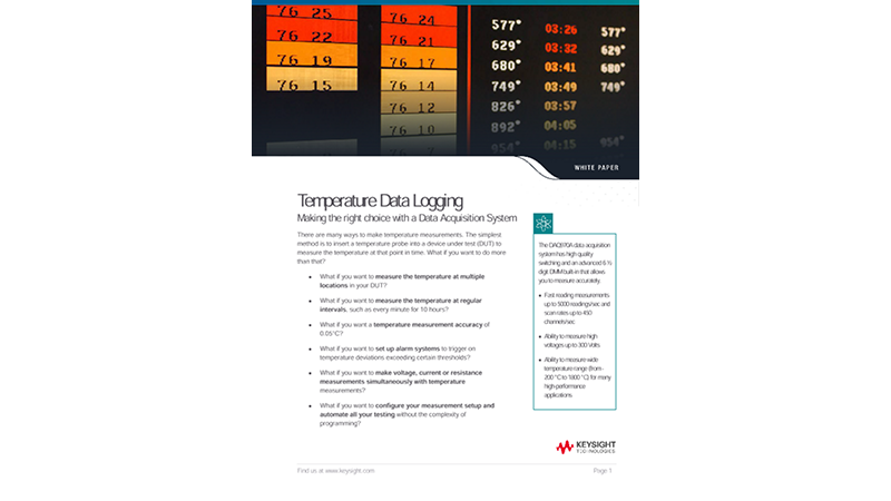 Temperature Data Acquisition, Data Logging Using DAQ System