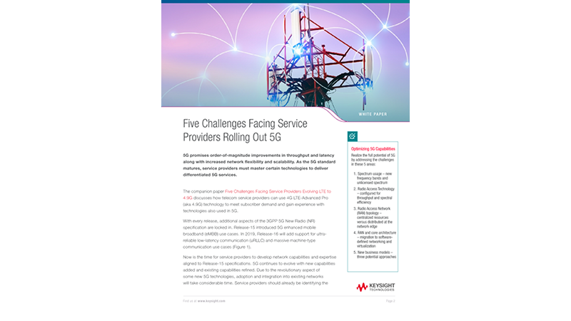 Five Challenges 5G Service Providers Need to Overcome