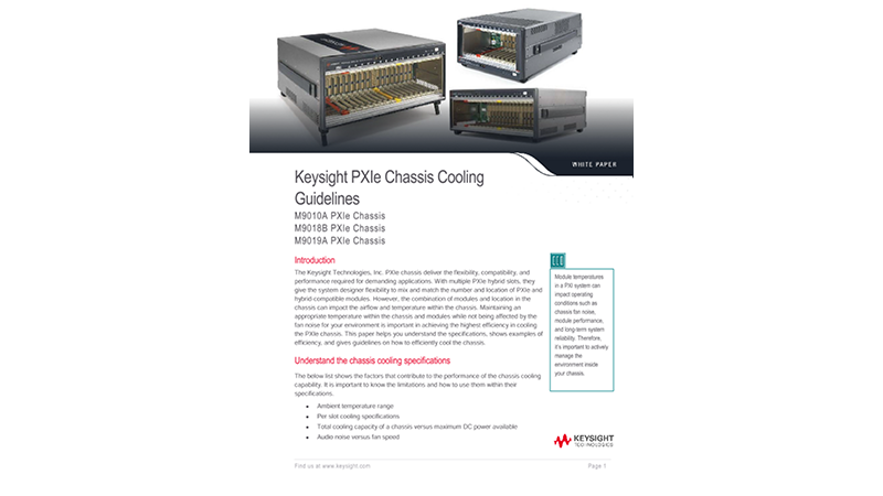 PXI Chassis Cooling Capacity Guidelines