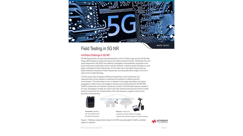 5G NR Field Testing Solution
