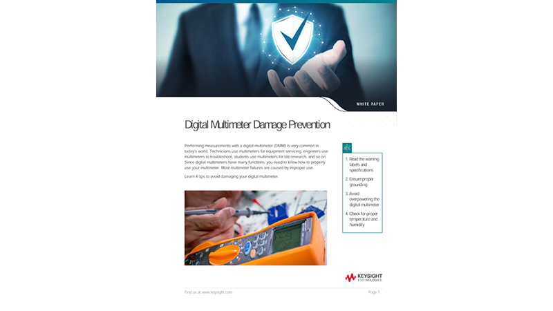 Digital Multimeter (DMM) Damage Prevention