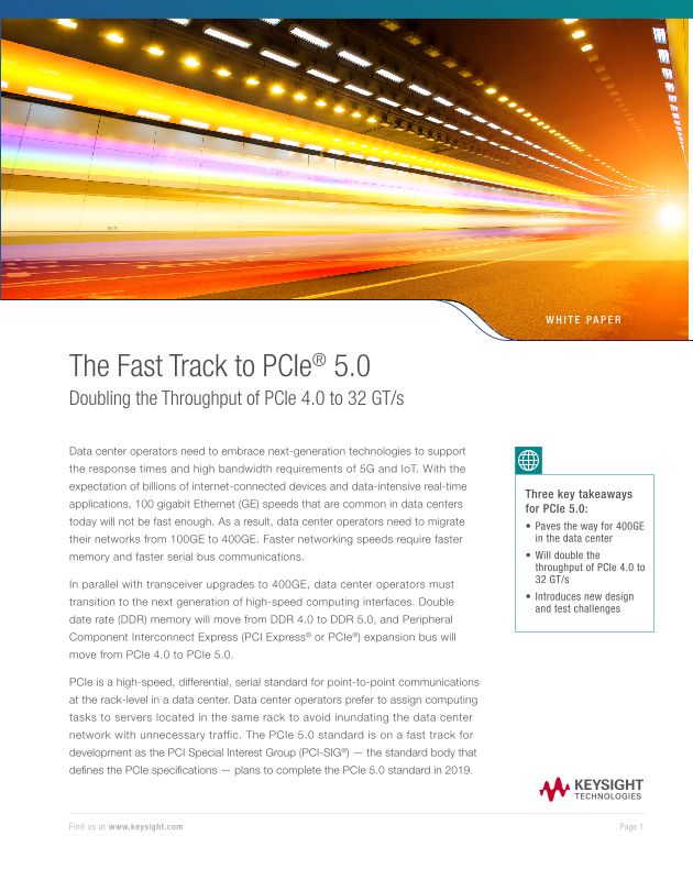 The Fast Track to PCIe 5.0