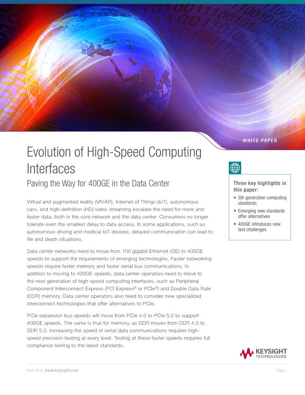 Evolution of High-Speed Computing Interfaces