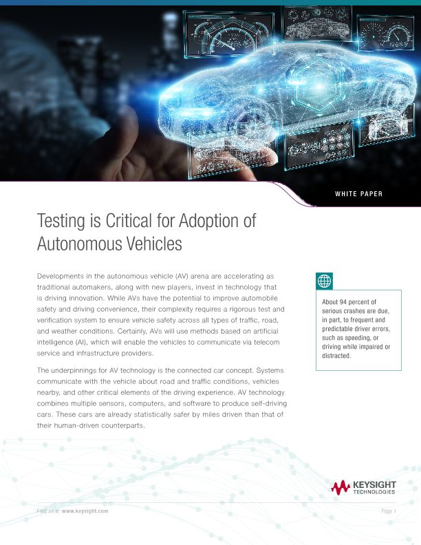 Autonomous Vehicles (AV) Testing
