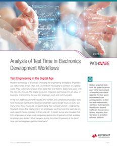 Analysis of Test Time in Electronics Development Workflows | Keysight