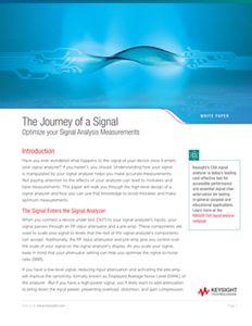 Signal Analysis Measurement and Optimization