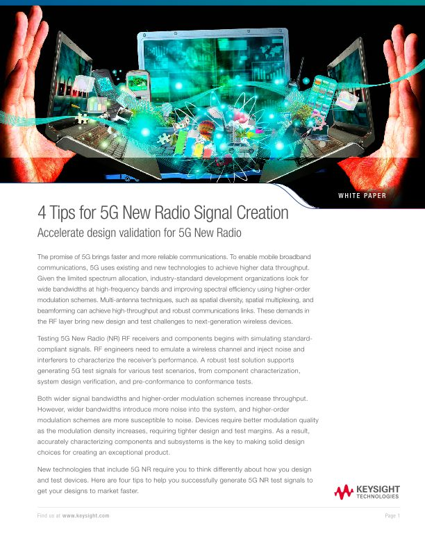 4 Tips for 5G New Radio (5G NR)  Signal Creation