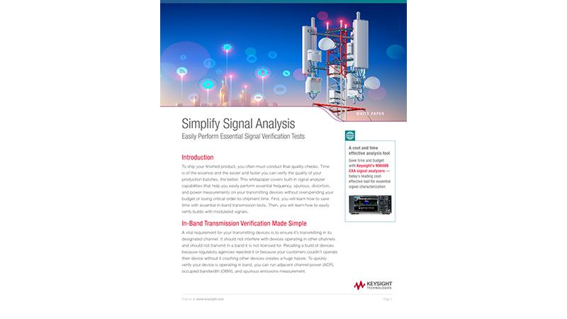 Simplify Signal Analysis