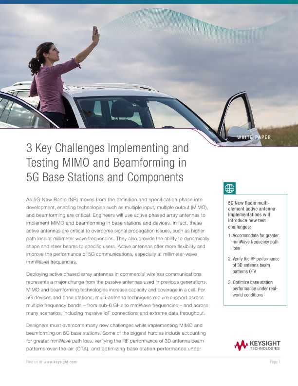 MIMO Challenges – 3 Key Challenges Implementing and Testing MIMO