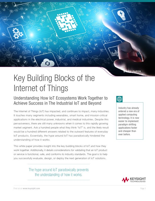 Internet of Things Building Blocks