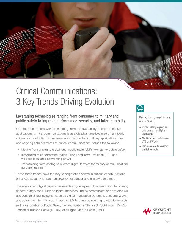 Critical Communications: 3 Key Trends Driving Evolution