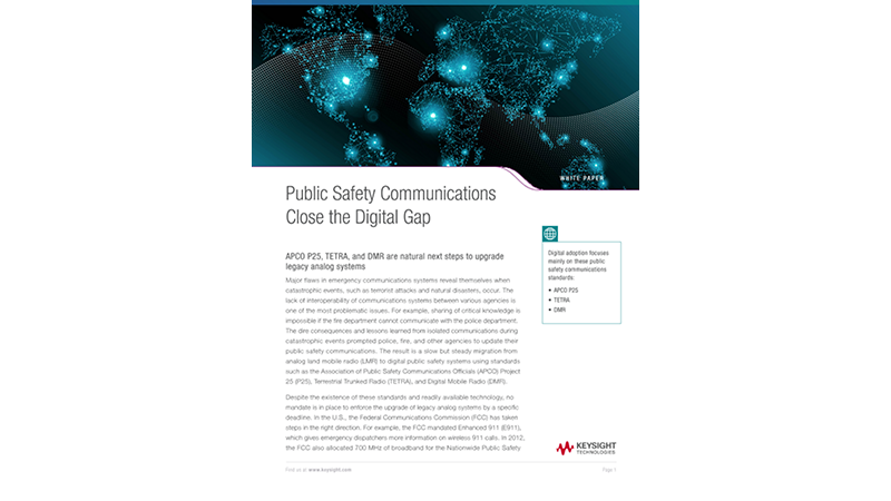 Public Safety Communications Close the Digital Gap