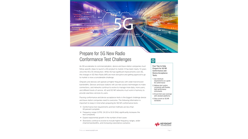 Prepare for 5G New Radio Conformance Test Challenges