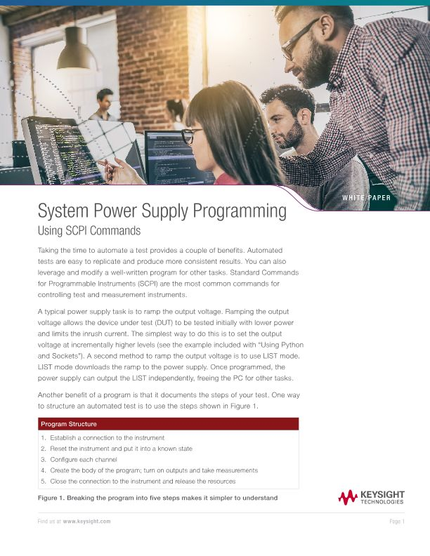 System Power Supply Programming Using SCPI Commands