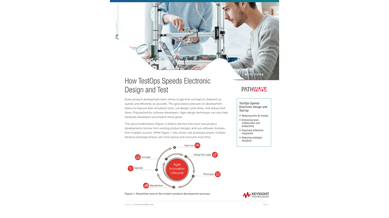 How TestOps Speeds Electronic Product Design and Test