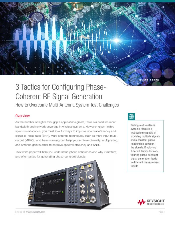 Configuring Phase-Coherent RF Signal Generation