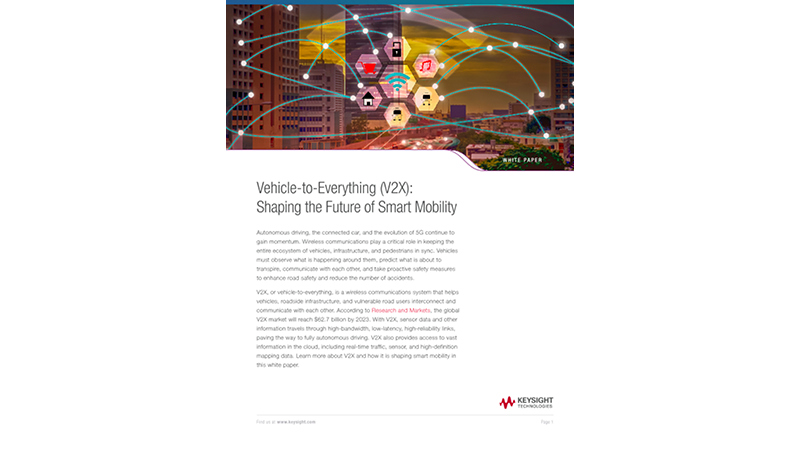 Shaping the Future of Smart Mobility with V2X